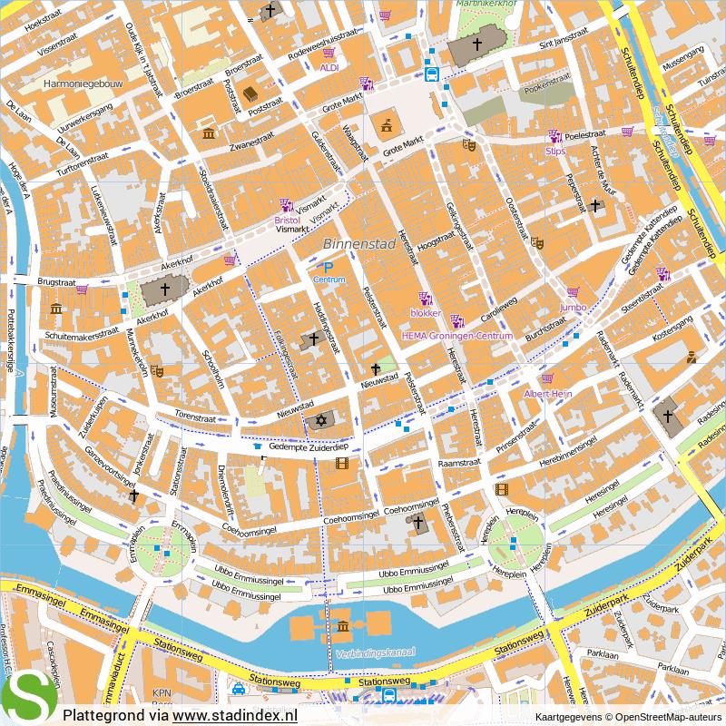 Plattegrond Groningen - Kaart Groningen