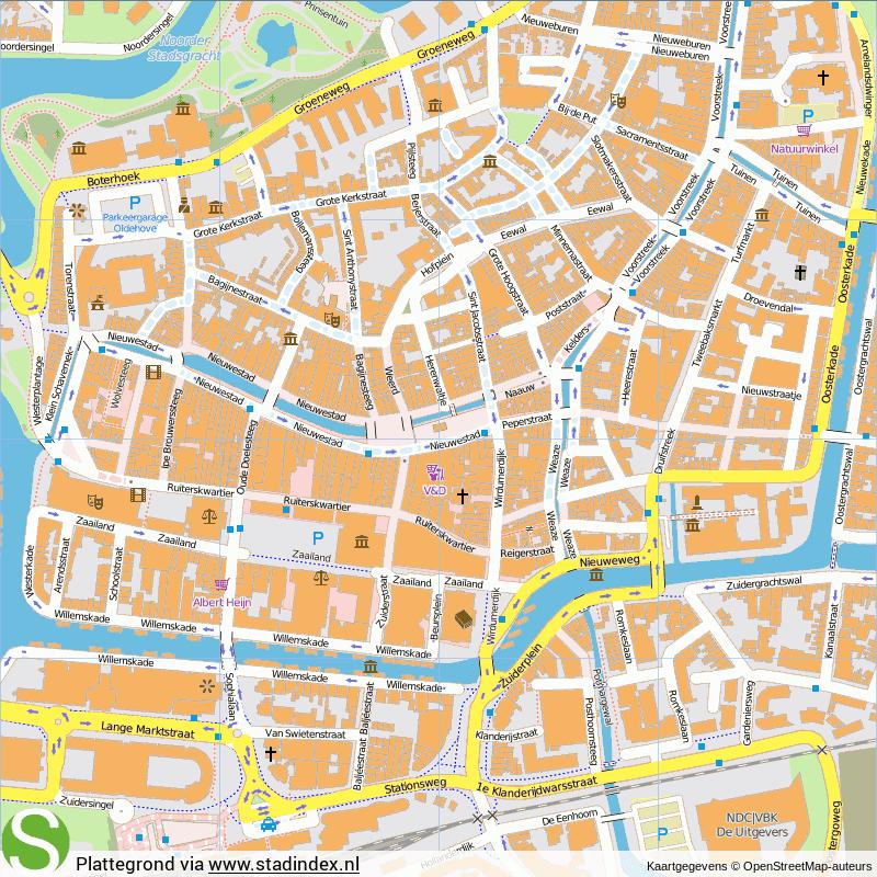 Kaart Leeuwarden Centrum Kaart 2018